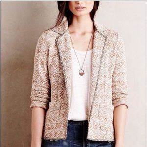 Anthropologie Knit Jacket Blazer Saturday Sunday S